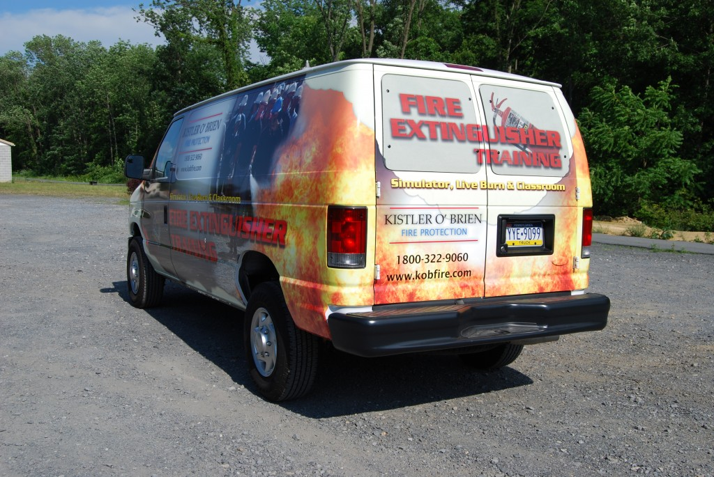 Kistler O'Brien Ford E250 Vehicle Wrap Rear