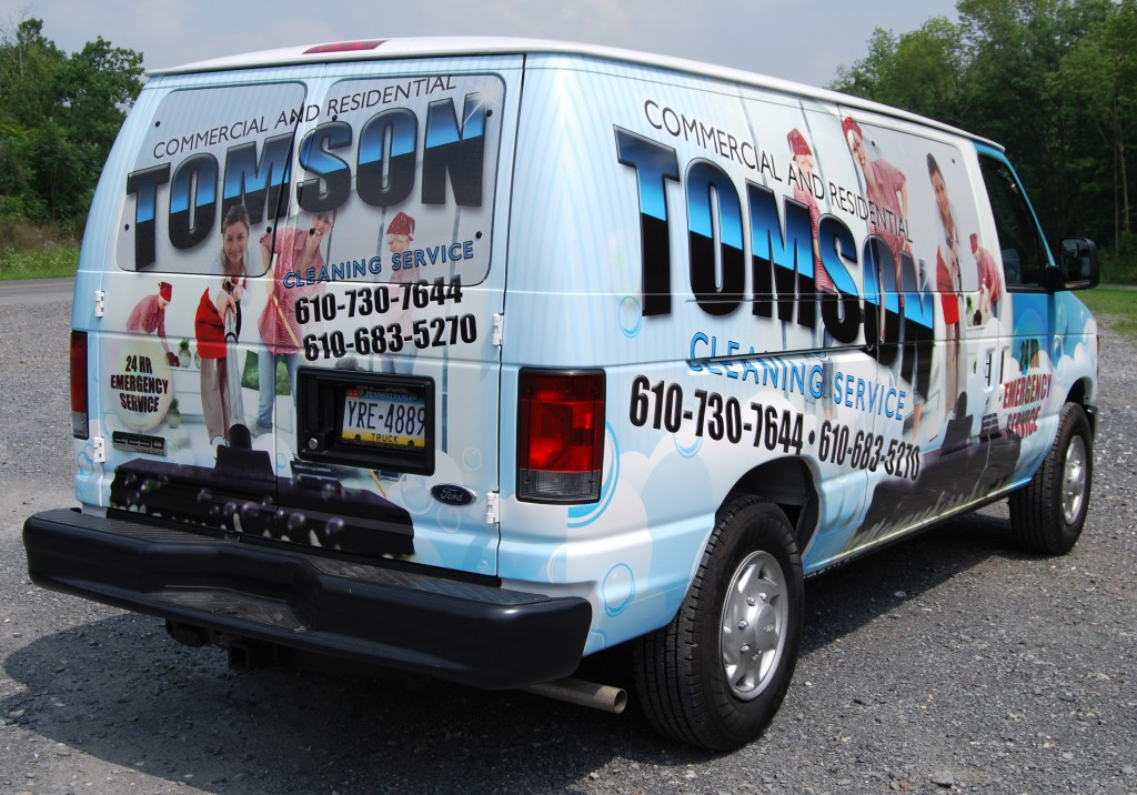 Tomson Cleaning Service Ford E250 Wrap