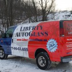 Liberty Auto Glass Chevy Express Van Wrap