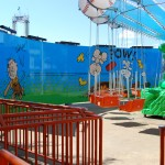 Dorney Park Wall Mural Graphic Wind Up Billboard Planet Snoopy