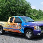 Marshall Silverado Truck Wrap Advertising