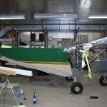TIW Corp Airplane Wrap Progress 1