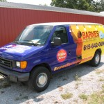 Barnes Electric Contractor Ford E250 Cargo Van 3M Wrap Vehicle TN