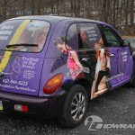 Steve's Painting Service & Knitted in the Womb Chrysler PT Cruiser Car Wrap-Graphics-3M Lehigh Valley Allentown Bethlehem Easton