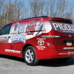 Red Iron Pigs Toyota Sienna Mini Van Wrap 3M Allentown Bethlehem Easton Lehigh Valley
