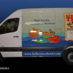 Heller's Seafood Market Sprinter Delivery Van Wrap 3M Advertising Doylestown PA