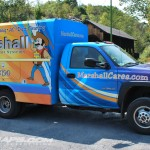 Marshall Cube Van Wrap HVAC Utility Graphics GMC Philly 3M