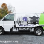 G1 Facility Services Contracting Chevy E250 Van Wrap