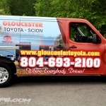 Gloucester Toyota Nissan NV Car Dealer Parts Van 3M Vinyl Wrap IDWraps
