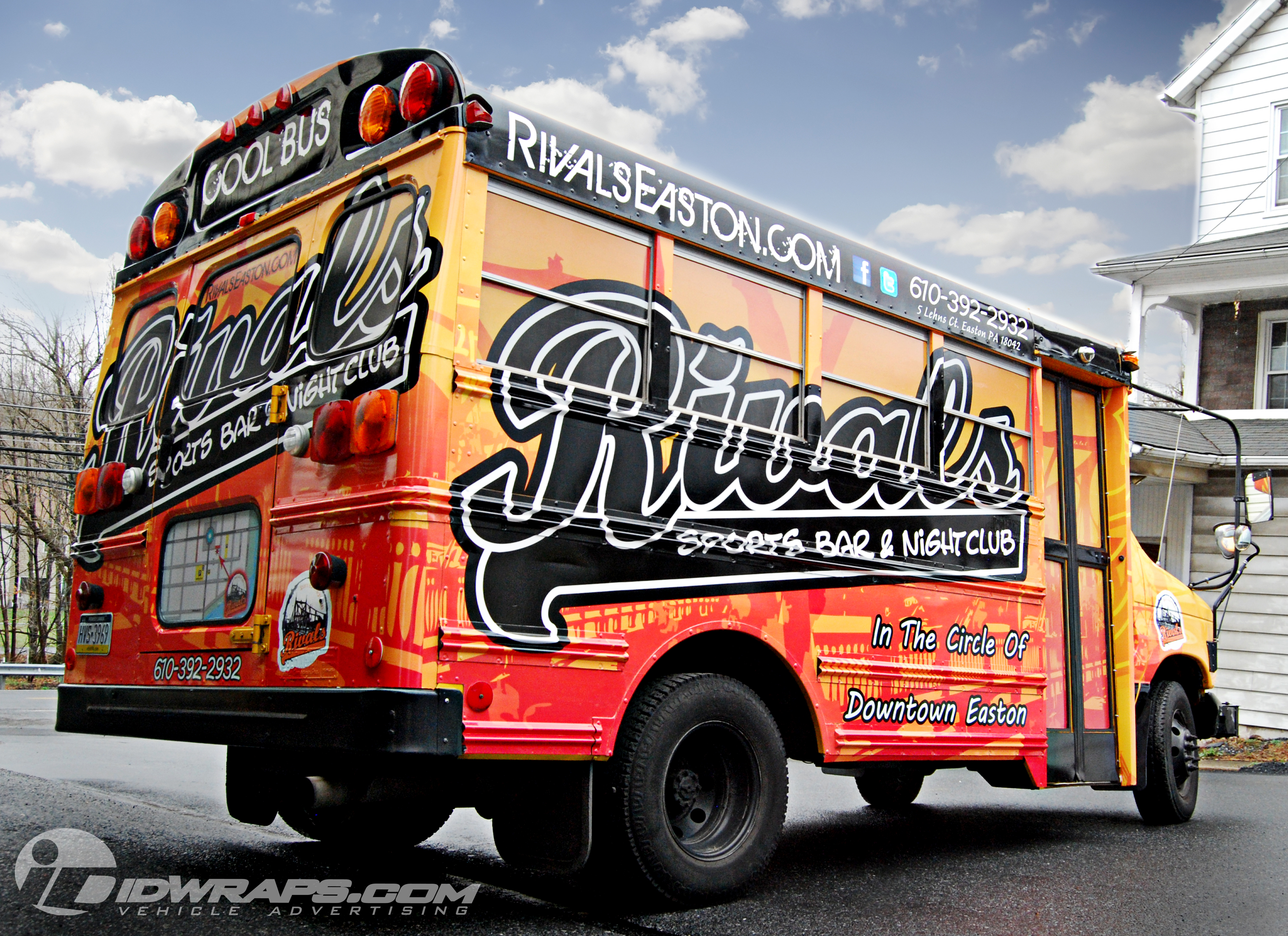 Features 3m Vinyl Short School Bus Wrap For Bar In Easton Pa