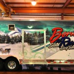 Born To Run Dogsled Team 3M Vinyl Gooseneck Trailer Wrap IDWraps