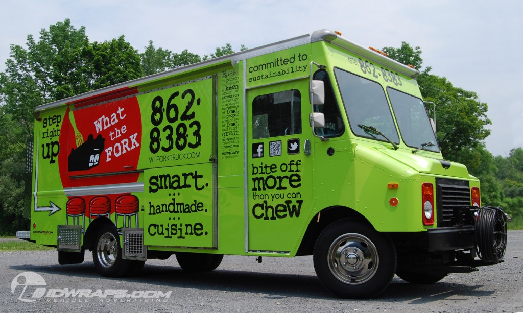 What The Fork Food Truck Concession 3M Vinyl Wrap
