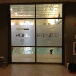 Steel Fitness Pool Frosted Etched Glass Decal Sticker Graphic PA 3M