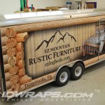 EZ Mountain Rustic Furniture Gooseneck Trailer 3M Vinyl Wrap Poconos IDWraps