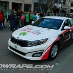 Electric City KIA Scranton St Patricks Parade Optima Partial Wrap