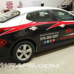 Electric City Kia Scranton Optima 3M Vinyl Wrap Advertising
