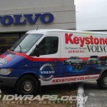 Keystone Volvo Dodge Dealer Sprinter Parts Van 3M Vinyl Wrap Philly