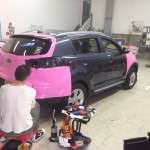 Nissan Murano Pink Wrap Install
