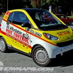 All Affordable Pest Control Smart Car 3M Yellow Vinyl Vehicle Wrap