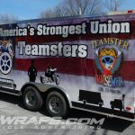 Teamsters Cargo Trailer Full 3M Vinyl Wrap