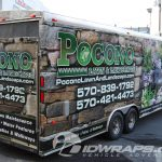 Pocono Lawn and Landscape Lanscaping Enclosed Cargo Trailer