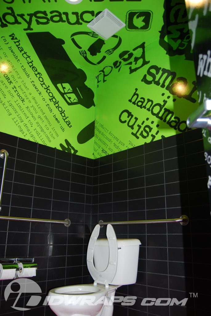 Restaurant wall wrap by national 3m certified for Bathroom ideas 3m x 3m