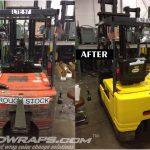Mack Trucks Toyota Forklift 3M 1080 Vinyl Wrap Color Change Before and After