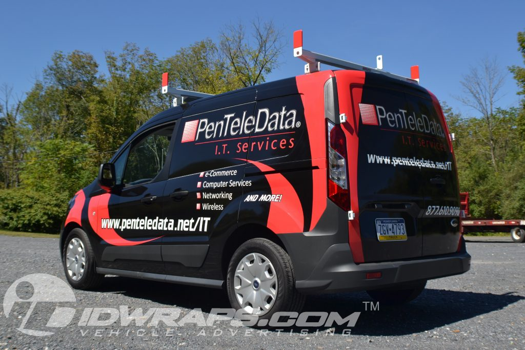 It Service Transit Connect Cargo Service Van 3m Vinyl Wrap