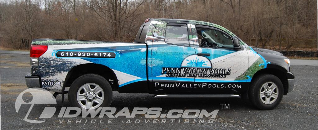 Pool Company Wrap on Toyota Tundra 3M Vinyl Graphic