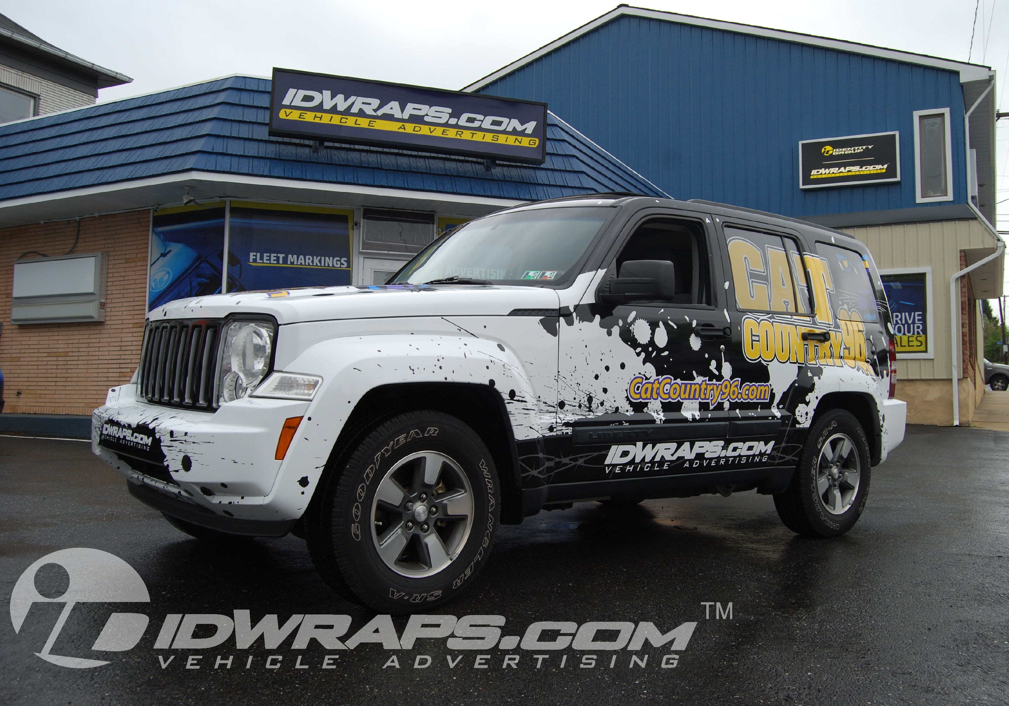 Radio Station Wrap Cat Country Jeep Liberty 3m Vinyl