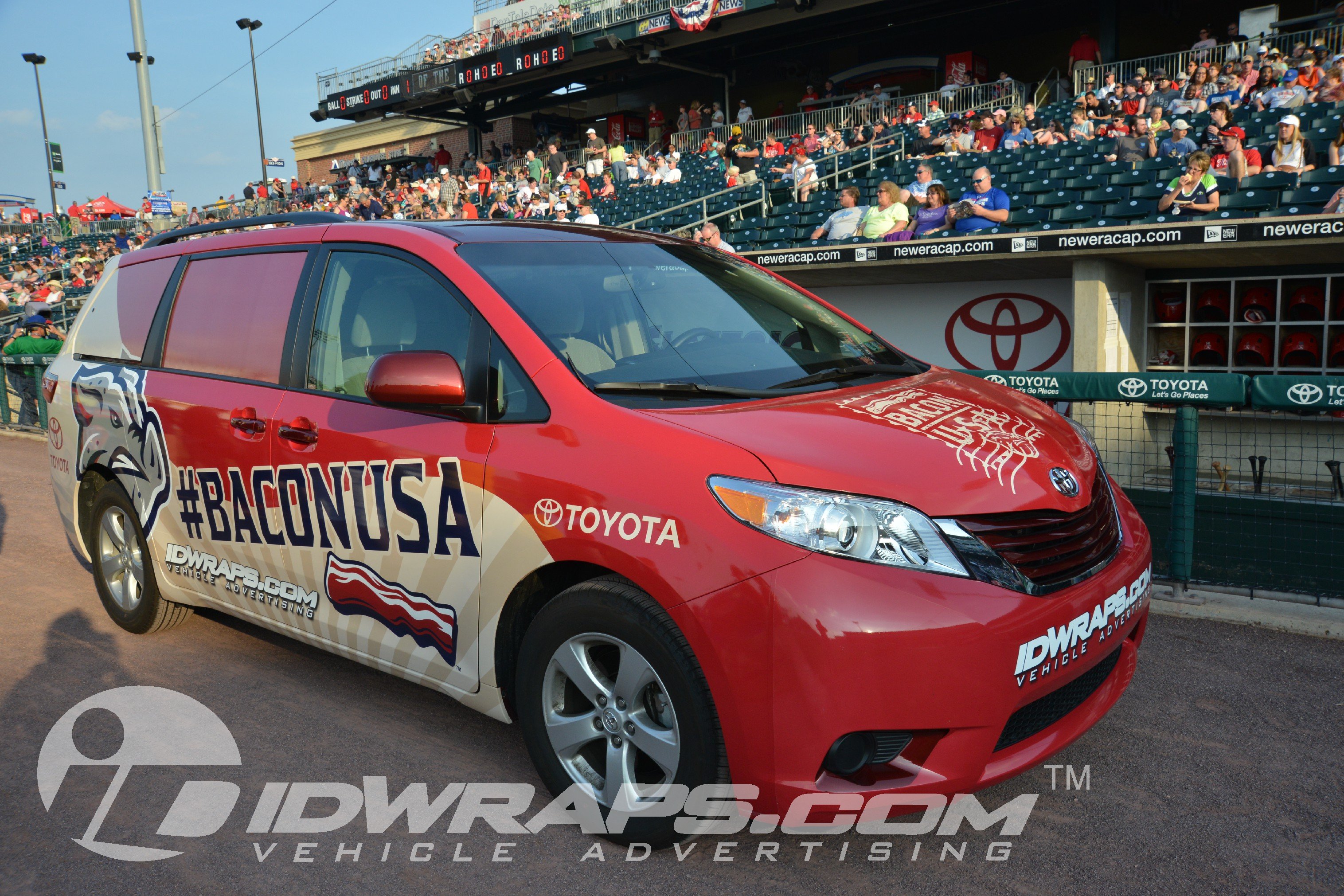 16-6 Baseball Team Wrap Ironpigs Toyota Sienna 3M Vinyl Graphics