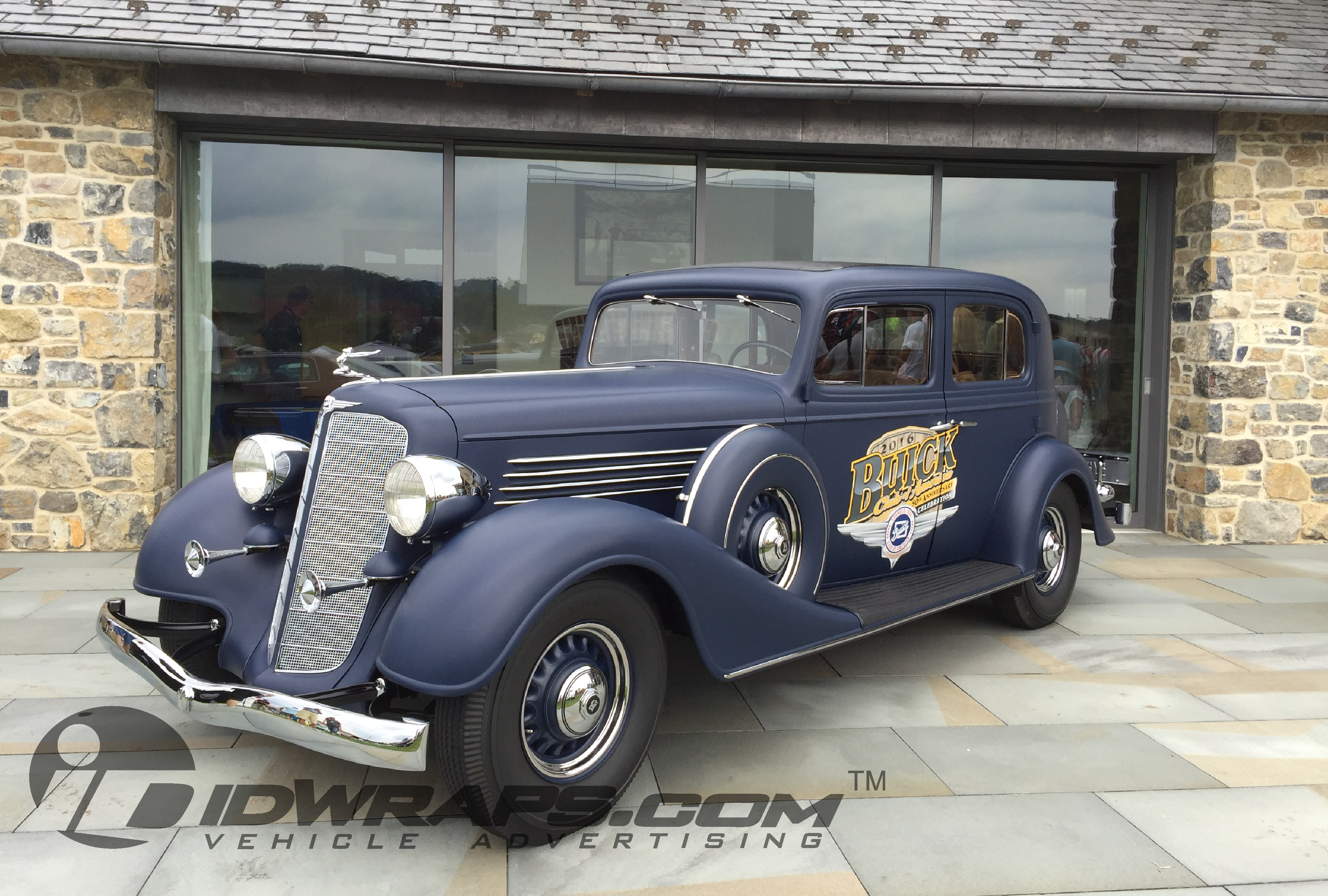 Classic car wrap for national event
