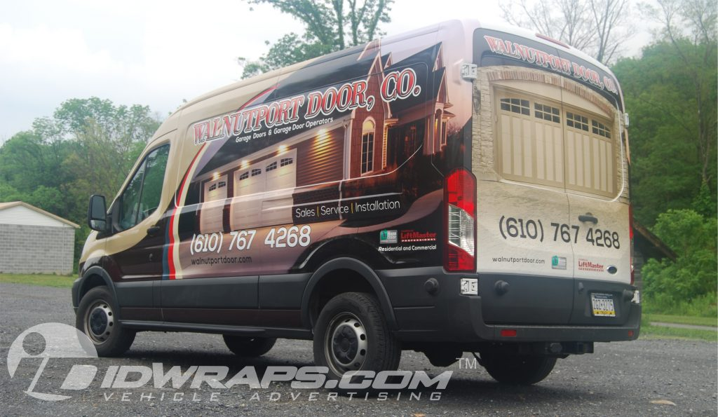 walnutport door ford transit wrap