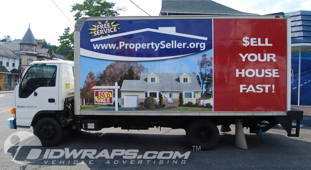 isuzu truck real estate wrap