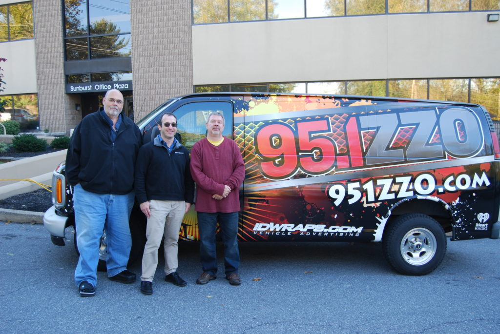 radio station vinyl wrap advertising