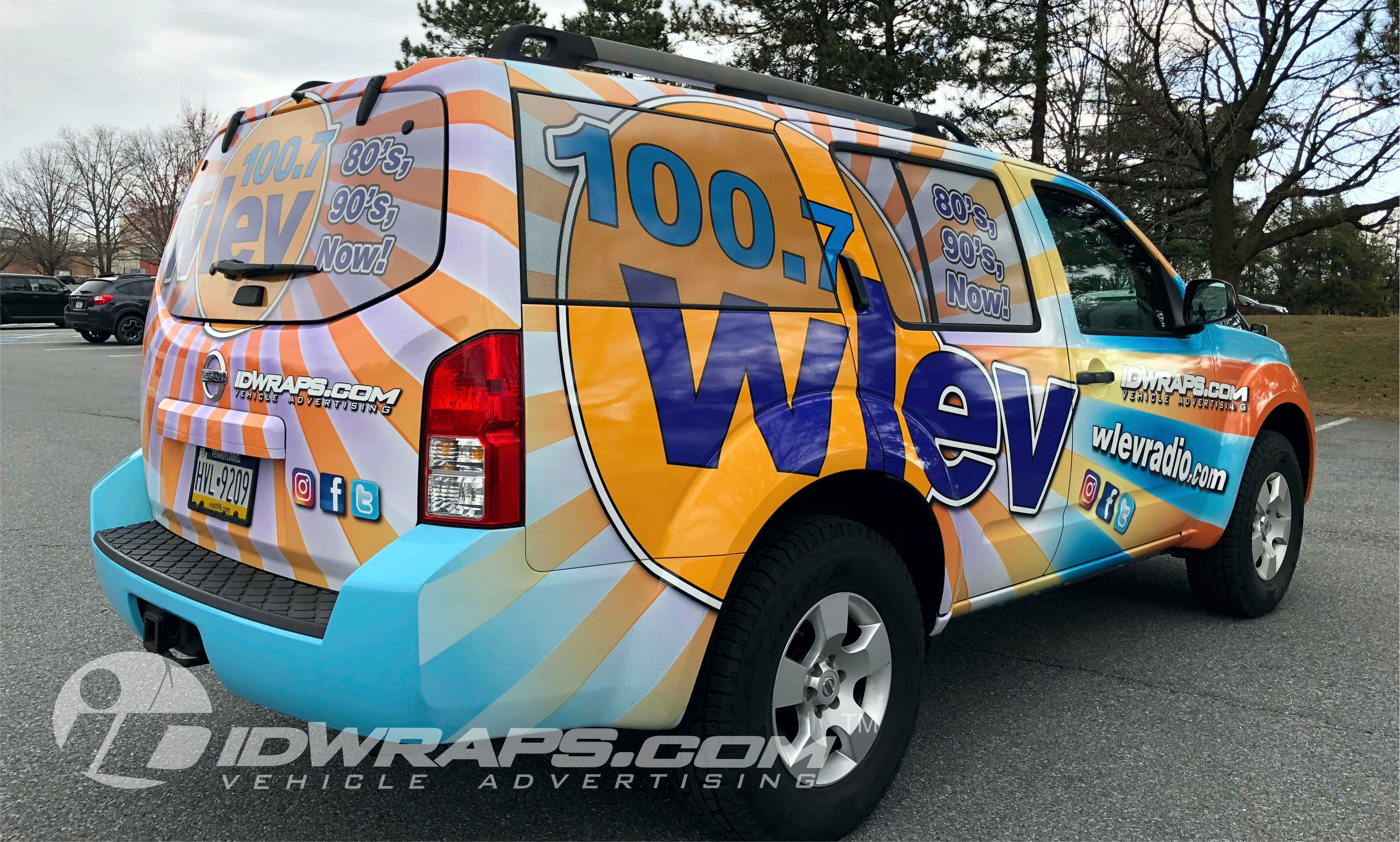WLEV 3M Vinyl Nissan SUV Wrapping