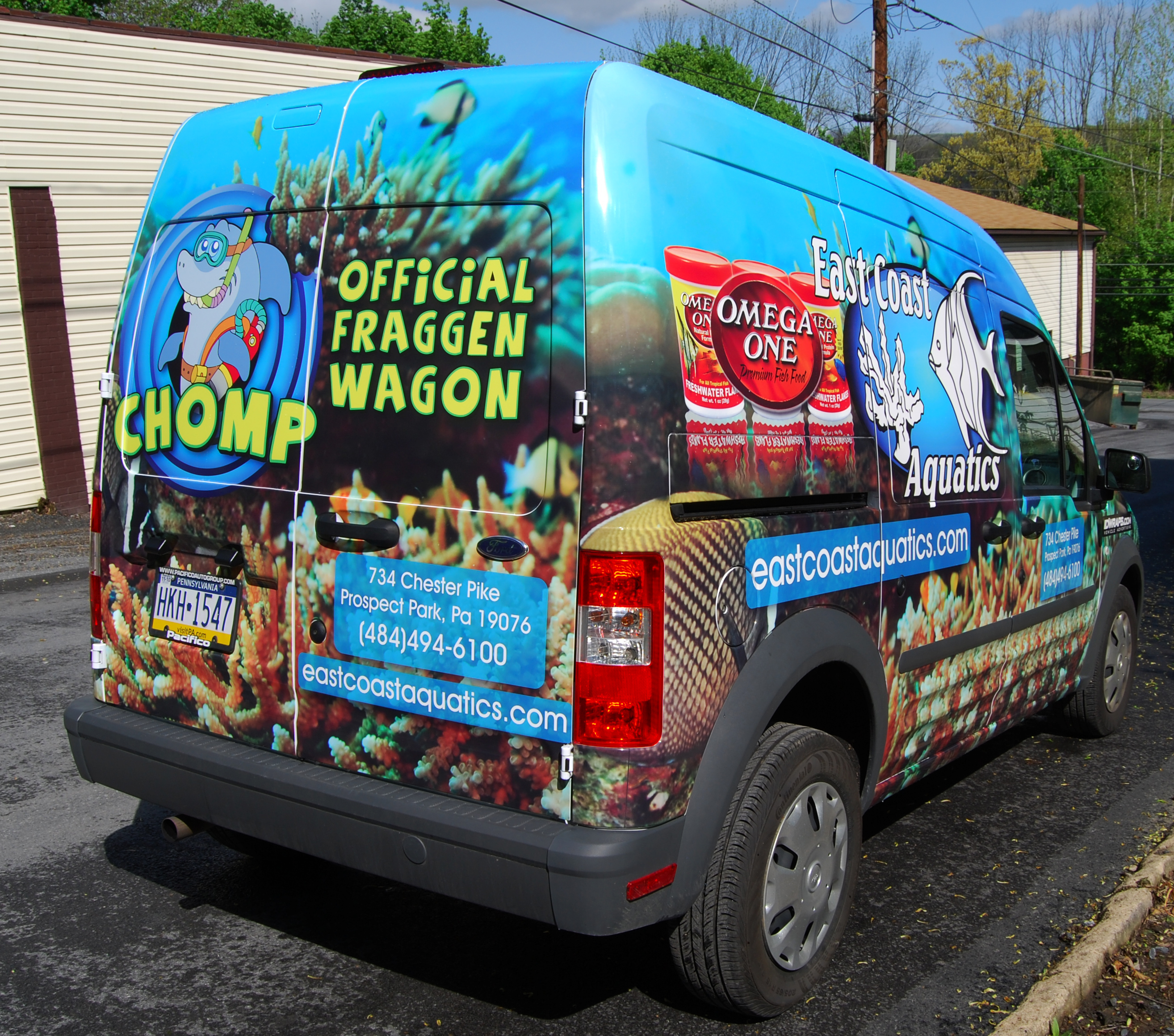 Aquatics Ford Transit Connect Van Wrap Advertising Vehicle Philly