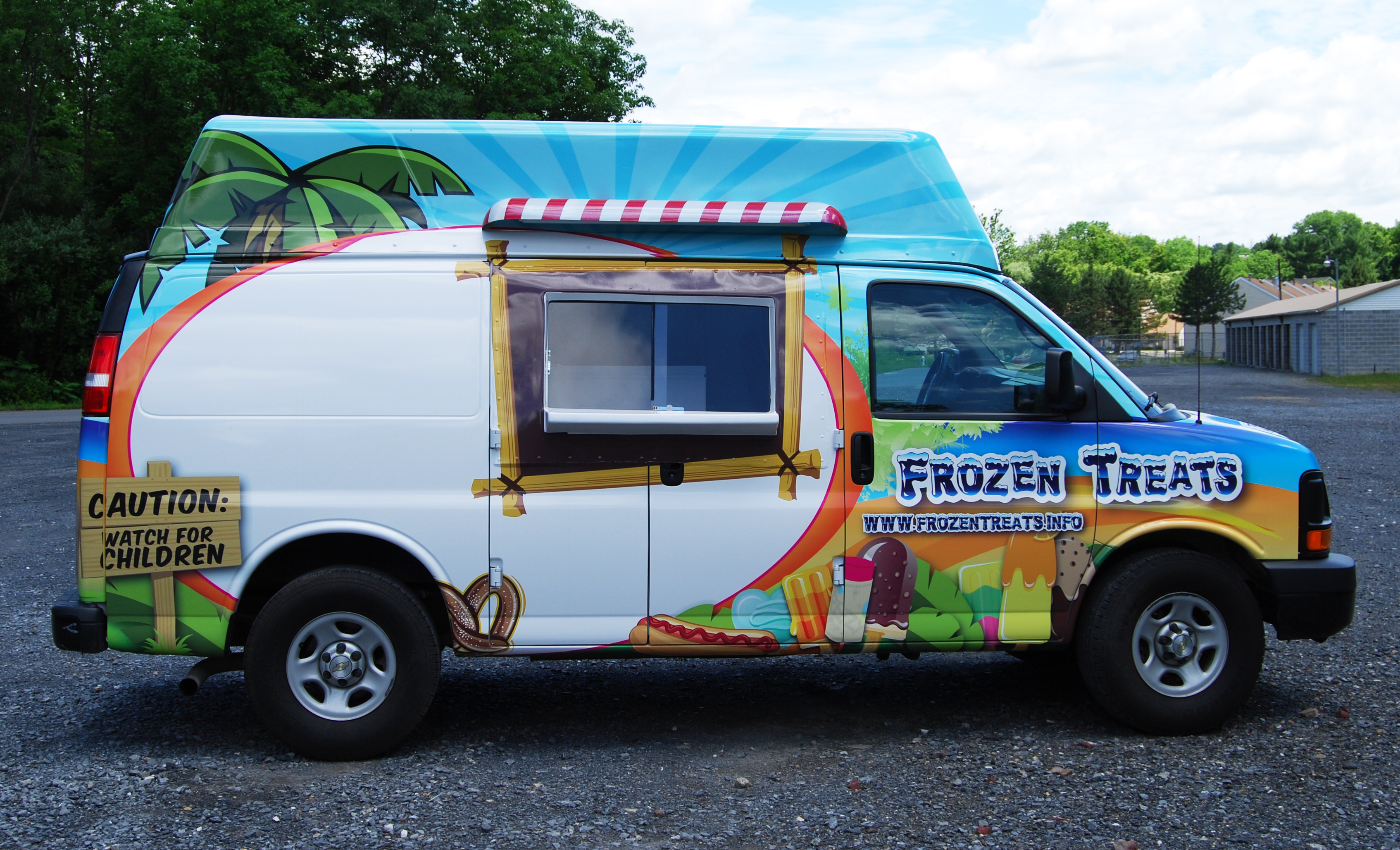 Frozen Treats Chevy Express Wrap