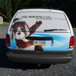 Dodge Caravan 3M Minivan Vehicle Wrap Advertising Newspaper PA