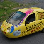Herman Chiropractic Vehicle Car Wrap Zap Electric Chiropractor