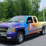 Marshall Home Comfort Silverado Wrap Advertising