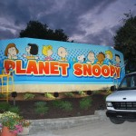 Dorney Park Planet Snoopy Wall Mural Graphic Install