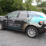 Travel Simplicity Mazda CX7 SUV Vehicle 3M Wrap Advertising Harrisburg Travel Agency