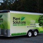 Plant Solutions Arborist Lawncare Enclosed 16ft Cargo Trailer 3M Vinyl Wrap NJ