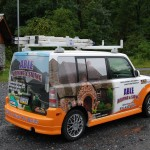 Able Roofing Contractor Scion XB Vehicle 3M Car Wrap Advertising Allentown