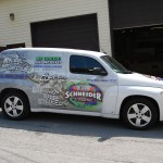 E Schneider HHR Cargo Van Wrap Allentown Bethlehem Easton 3M Graphics Chevy HHR
