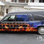 Dorney Park Halloween Haunt Hearse Wrap Allentown PA Vehicle Park 3M Graphics Lehigh Valley