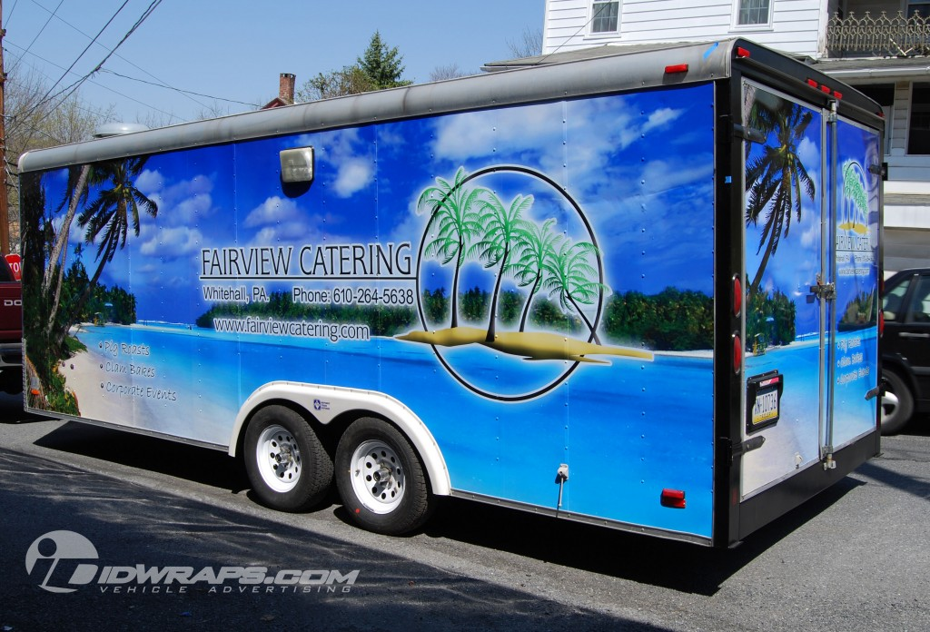 Fairview Catering Trailer Wrap Whitehall Lehigh Valley 3M Graphics Allentown