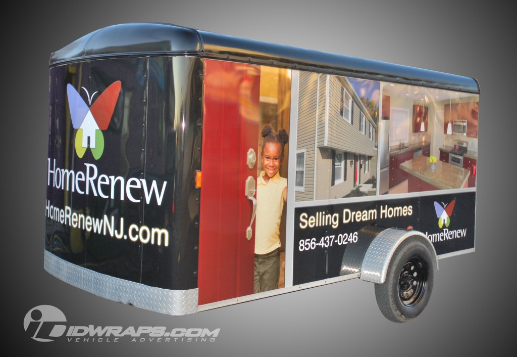 Home Renew Cargo Trailer Wrap Construction Contractor NJ 3M Graphics Lettering