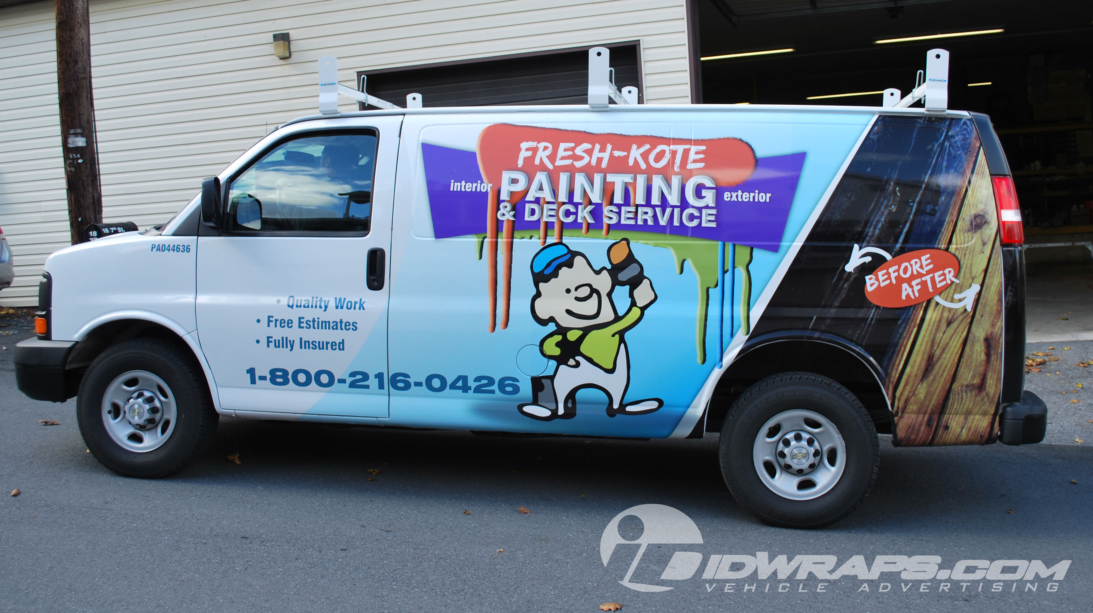 Fresh Kote Painting Chevy Express Van Wrap Lancaster PA 3M Graphics